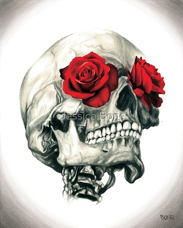 """Rose Eye Skull"" Posters by Jessica Bone"