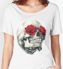Rose Eye Skull Women's Relaxed Fit T-Shirt