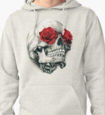 Rose Eye Skull Pullover Hoodie