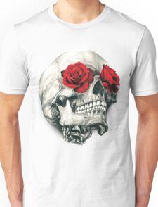 Rose Eye Skull Unisex T-Shirt