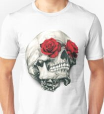 Rose Eye Skull Unisex T-Shirt