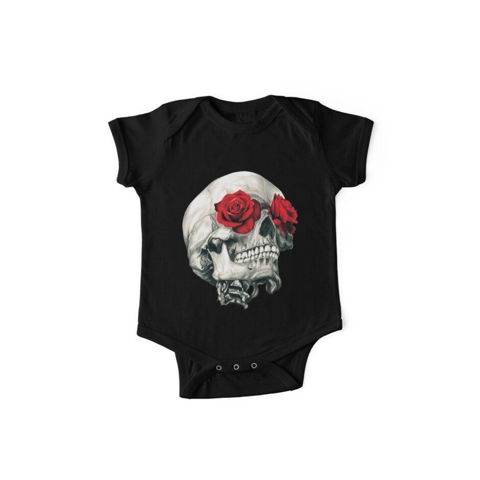Rose Eye Skull by Jessica Bone