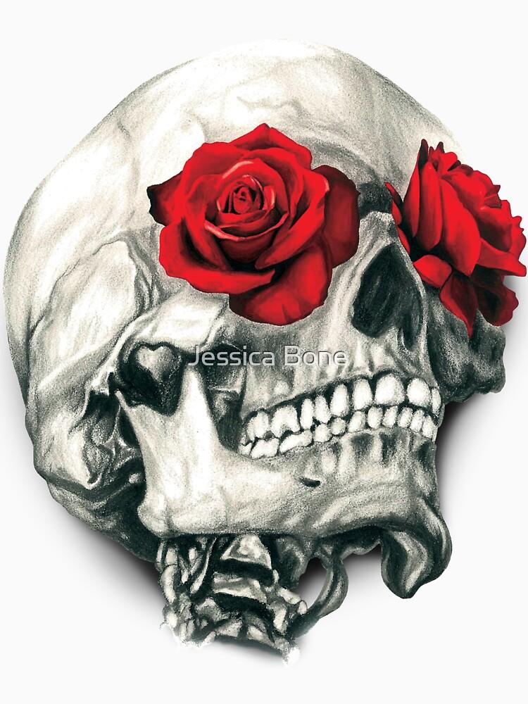 Rose Eye Skull by bonedesigns