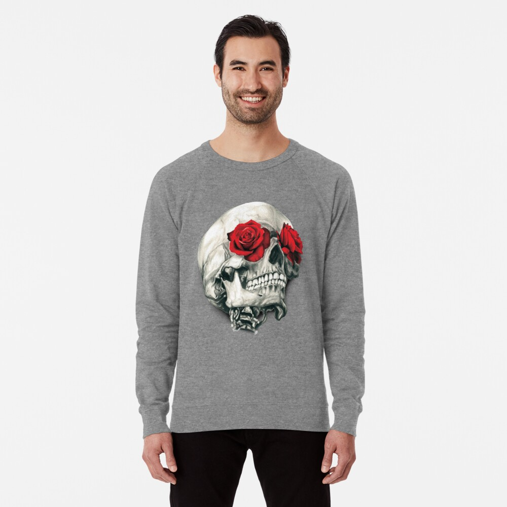 Rose Eye Skull Lightweight Sweatshirt