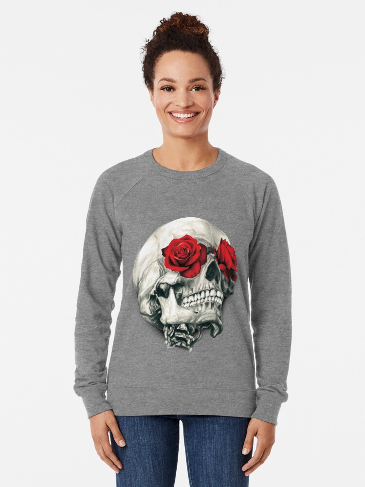 Alternate view of Rose Eye Skull Lightweight Sweatshirt