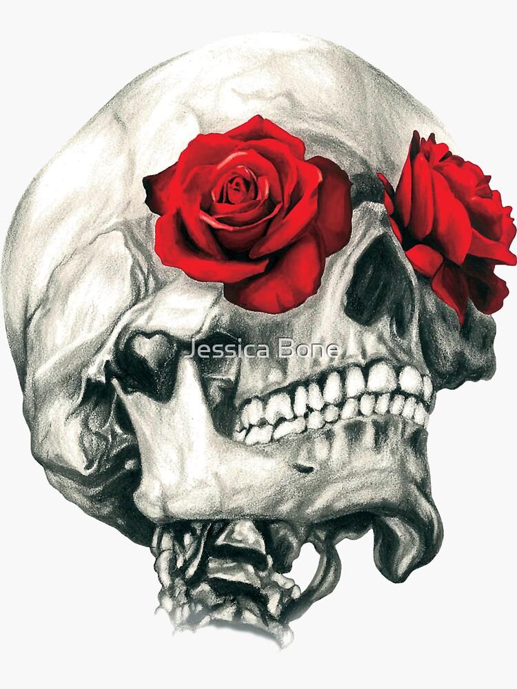 Rosenaugenschädel von bonedesigns