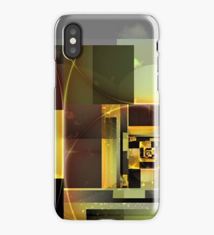 City Abstract - Orange Green iPhone Case