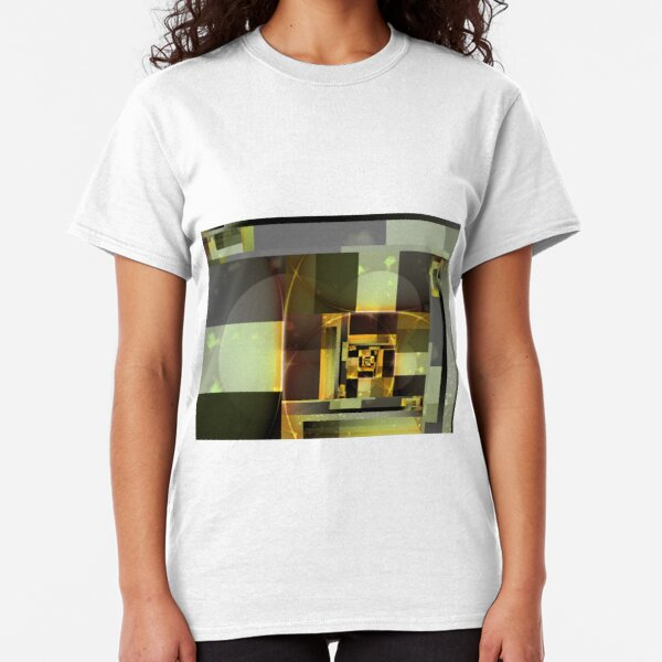 City Abstract - Orange Green Classic T-Shirt