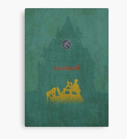 Ghibli Minimalist 'The Castle of Cagliostro' (Lupin III) Canvas Print