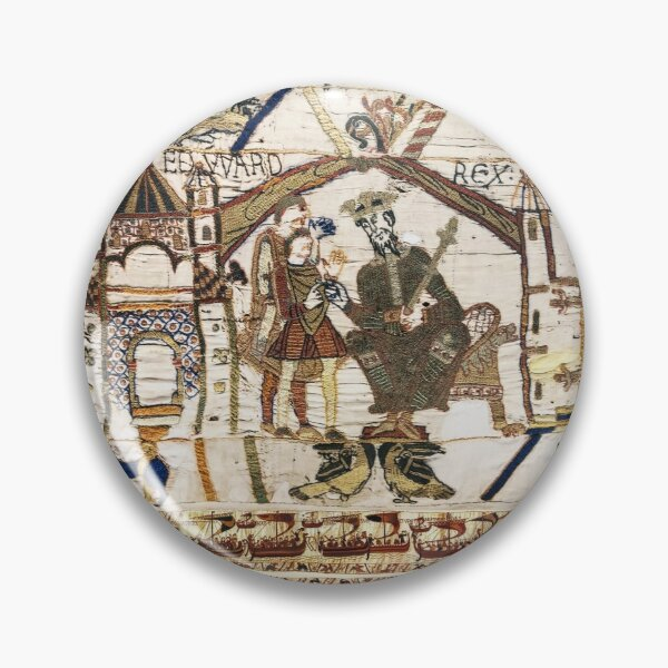 THE BAYEUX TAPESTRY, King Edward the Confessor y Harold Godwinson en Winchester. Chapa