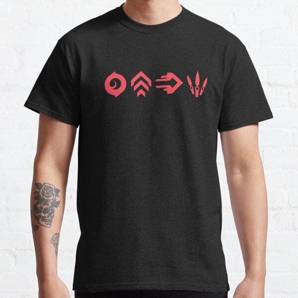 Icônes des capacités de Jett Valorant T-shirt classique