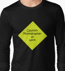 Caution: Photographer at work T-Shirt