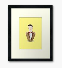 Eleventh Doctor - Yellow Framed Print