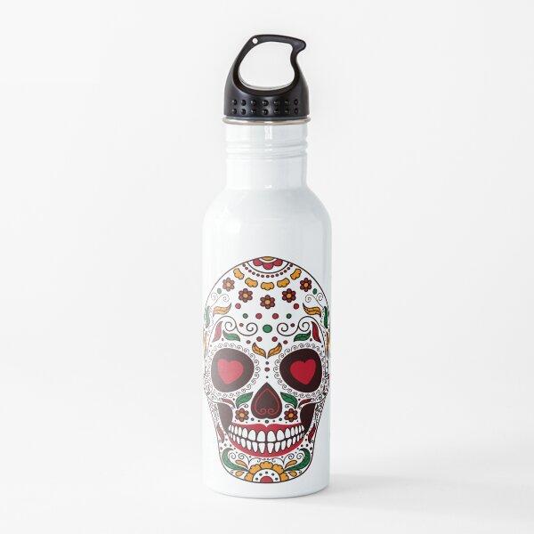 Sugar Skull Heart Eyes Water Bottle