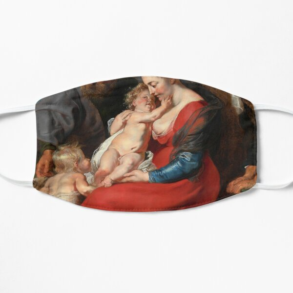 Peter Paul Rubens - The Holy Family with Saints Elizabeth and John the Baptist Flat Mask