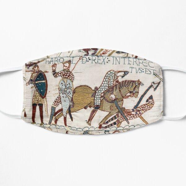 EL TAPIZ DE BAYEUX, La muerte del rey Harold en la batalla de Hastings. Mascarilla