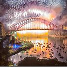 WHAT A BLAST ! - Sydney Harbour Fireworks - Philip Johnson Photography by Philip Johnson