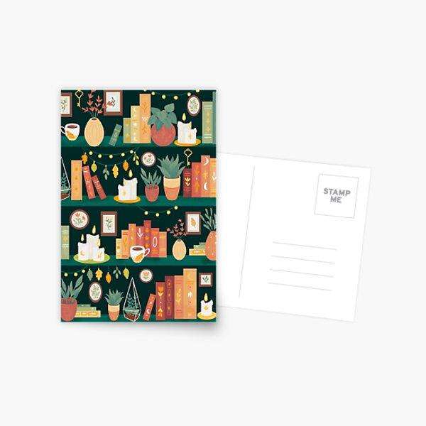 Hygge library Postcard