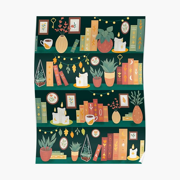 Hygge library Poster