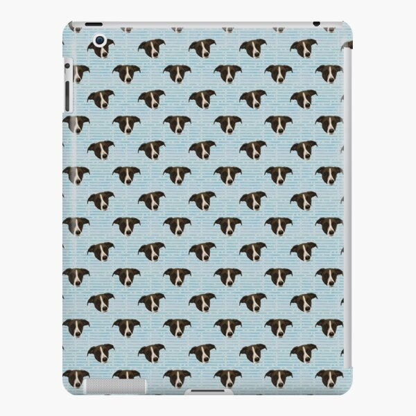 Cute Hound Puppy Faces - Blue Palette Pattern iPad Snap Case