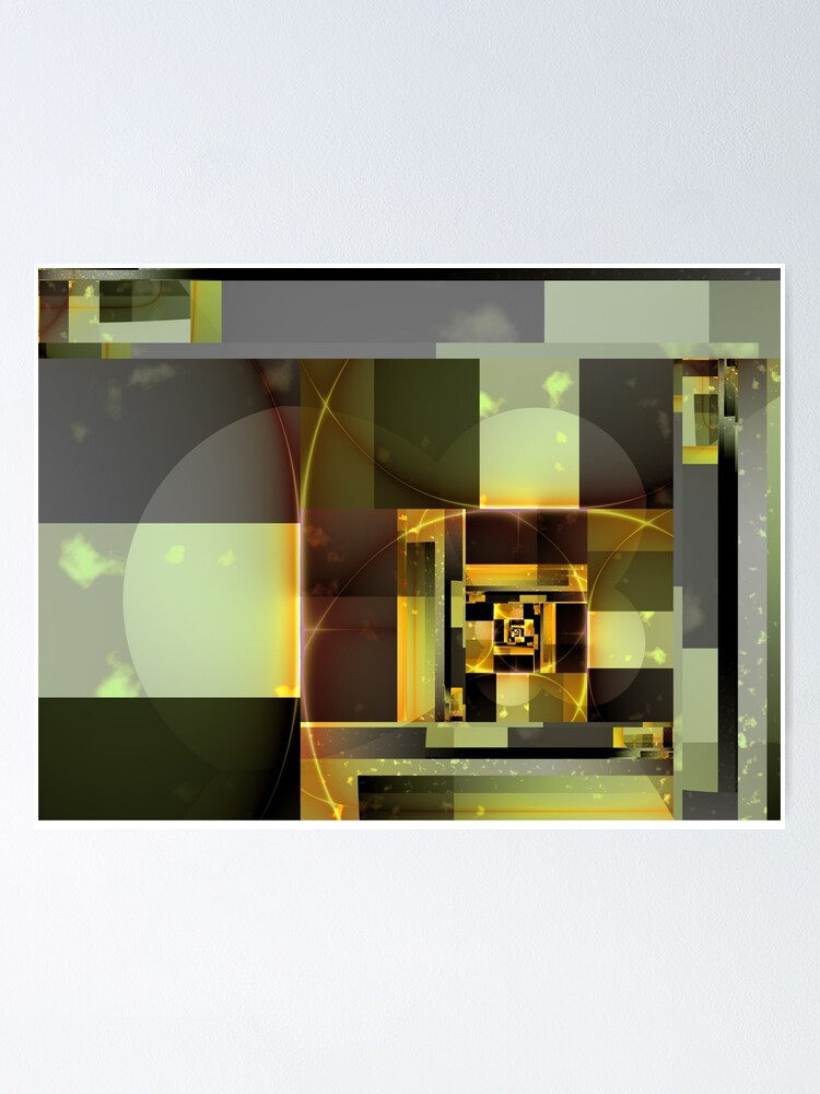 Alternate view of City Abstract - Orange Green Poster