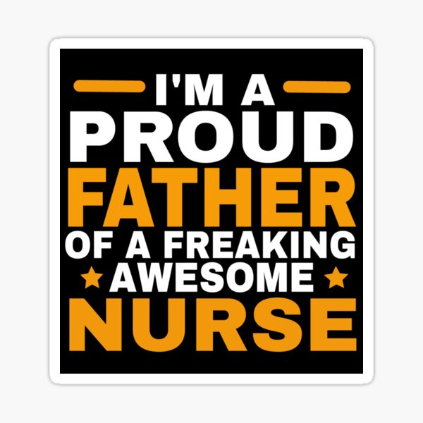 PROUD FATHER Sticker