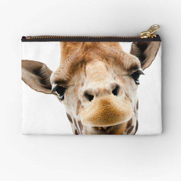 Giraffe Portrait Face Photo Art Zipper Pouch