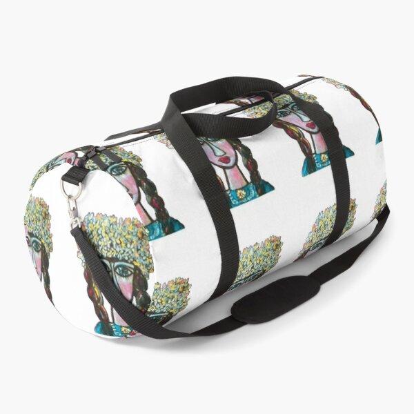 Flowers on my head Duffle Bag