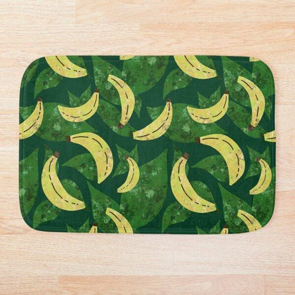 Banana Leaf Tropical Summer Pattern Bath Mat