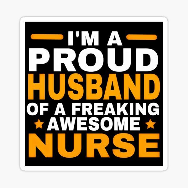 PROUD HUSBAND Sticker