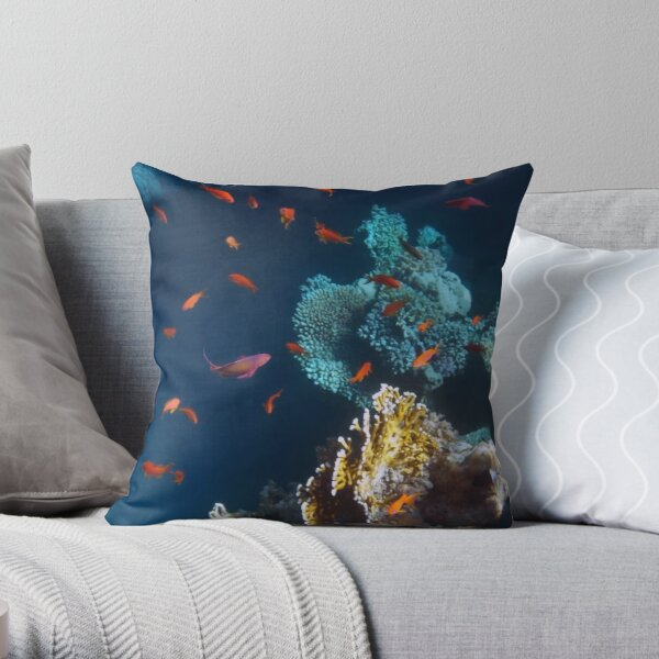 Colorful and Beautiful Sealife photography Throw Pillow
