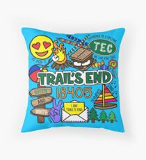 Trail's End Camp Throw Pillow