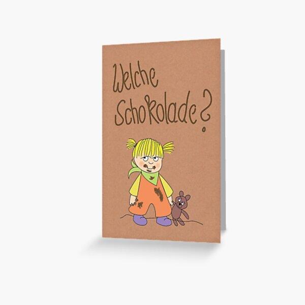 Kindermund Karten Packpapierlook Grußkarte