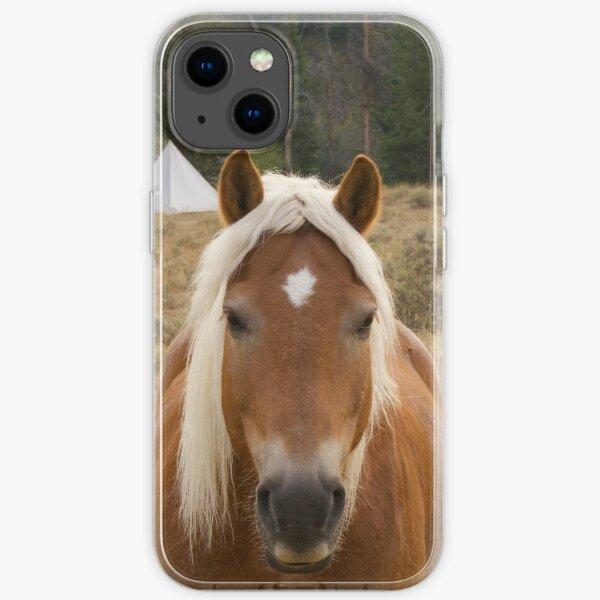 Haflingerpferd in Yellowstone. iPhone Flexible Hülle