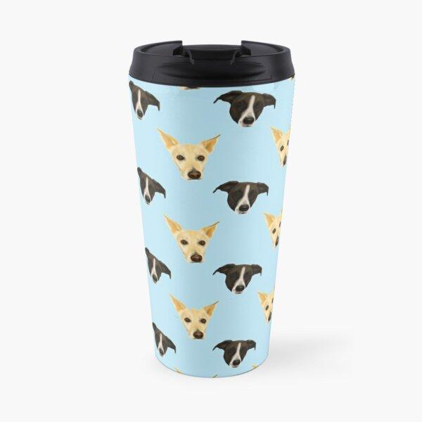 Black Puppies - White Puppies - Cute dog pattern Travel Mug