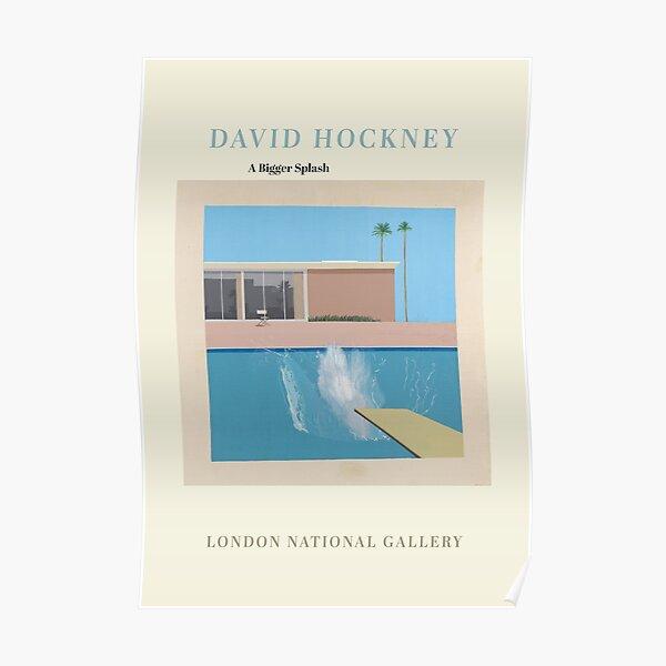 Póster de arte de la exposición de David Hockney: un toque más grande Póster