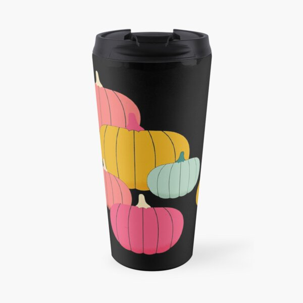 Multicolor Pumpkin Travel Mug
