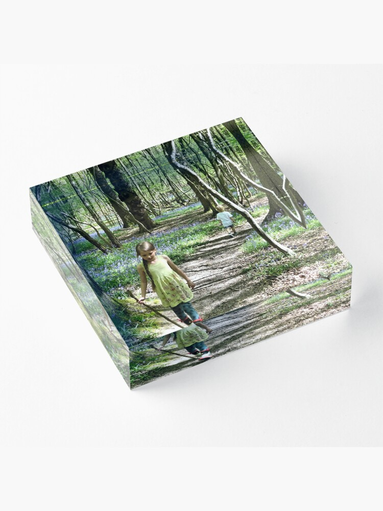 Alternate view of In the bluebell woods Acrylic Block