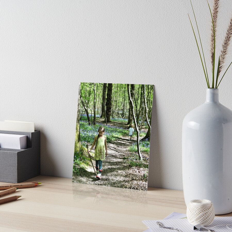 In the bluebell woods Art Board Print