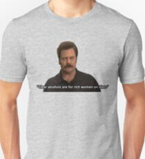 Ron Swanson- Clear Alcohols  T-Shirt