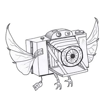 When Cameras Fly - (Hand drawn) by SimplisticArts