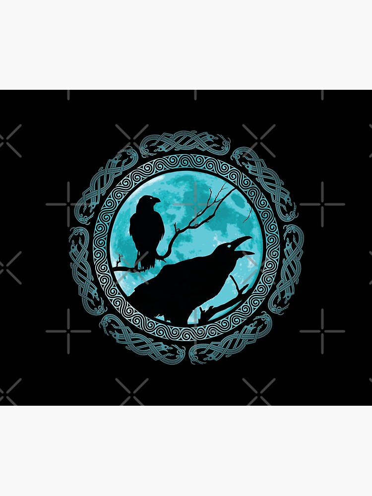Hugin Munin Odins Ravens by Beltschazar