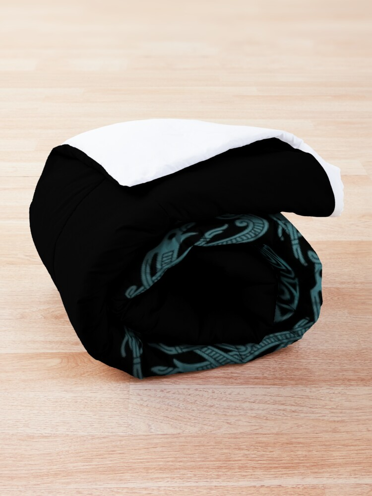 Alternate view of Hugin Munin Odins Ravens Comforter