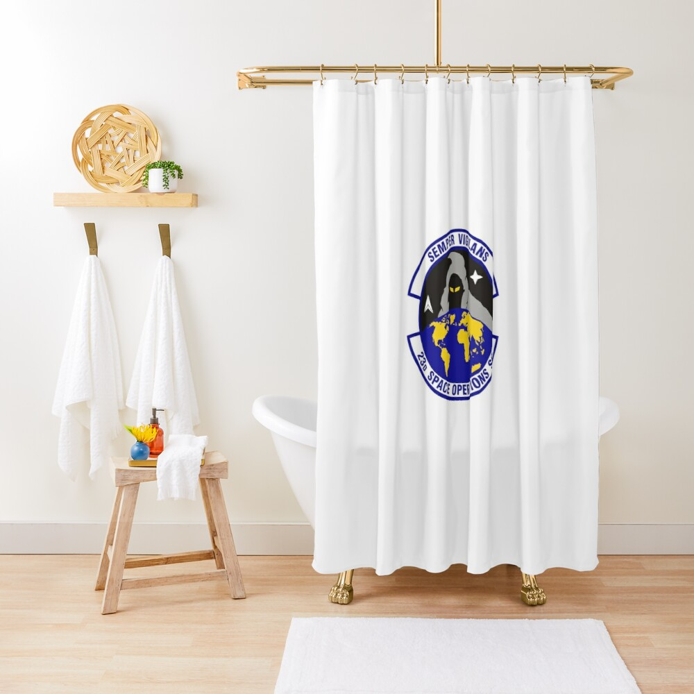 Model 90 - 23th Space Operations Shower Curtain