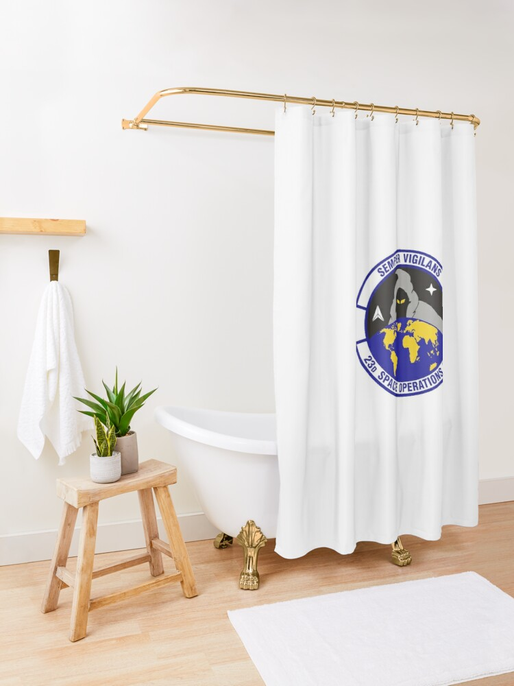 Alternate view of Model 90 - 23th Space Operations Shower Curtain