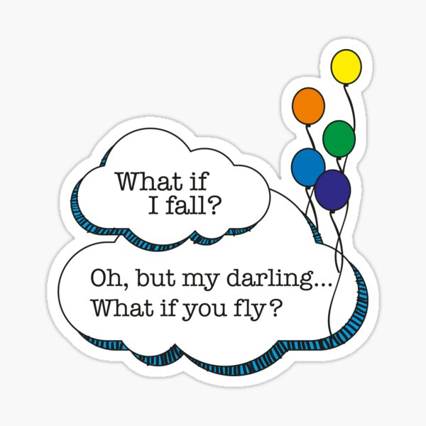 what if i fall? Sticker