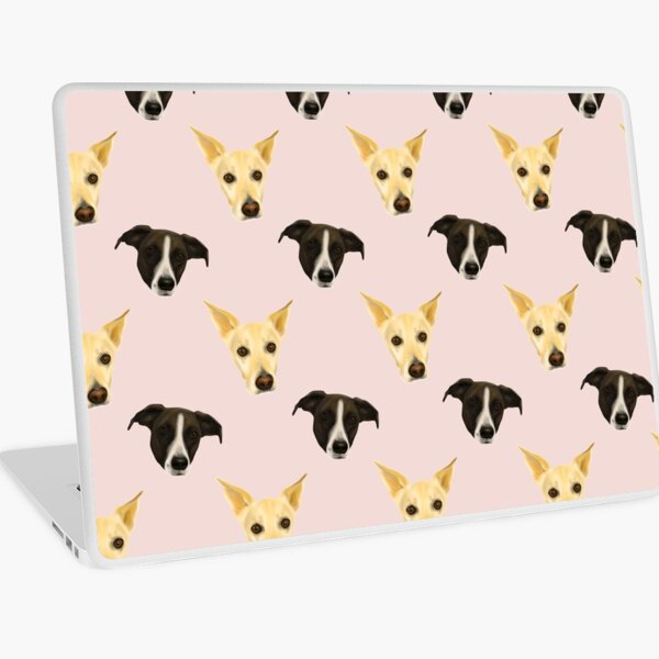 Black and White Puppies - Cute dog pattern Laptop Skin