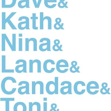 Portlandia Characters (Classic Blue) by StuffByMe