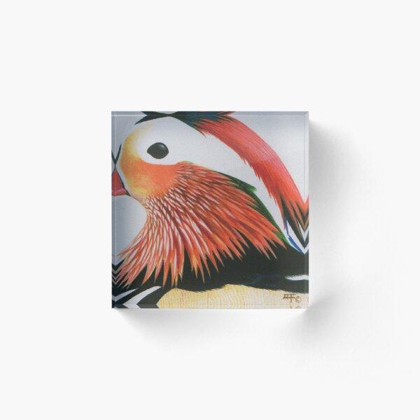 Mandarin Duck Acrylic Block