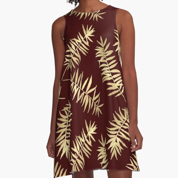 Abstract gold patterns A-Line Dress